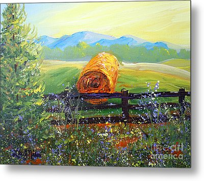 Metal Print featuring the painting Nixon's Farm View Of Paradise by Lee Nixon