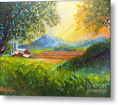 Metal Print featuring the painting Nixon's Majestic Farm View by Lee Nixon