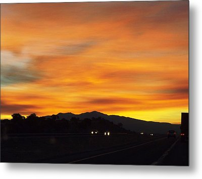 Nm Sunrise Metal Print by Adam Cornelison