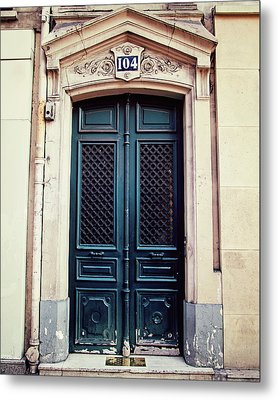 No. 104 - Paris Doors Metal Print by Melanie Alexandra Price