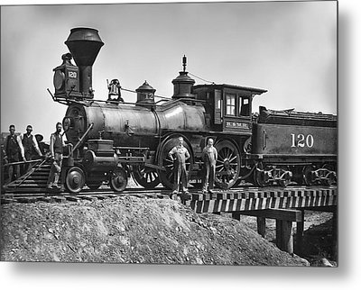 No. 120 Early Railroad Locomotive Metal Print by Daniel Hagerman