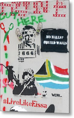 No Balls Build Walls Metal Print