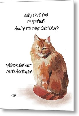No Fat Cat Metal Print by Colleen Taylor