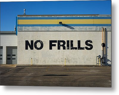 No Frlls Metal Print by Bryan Scott