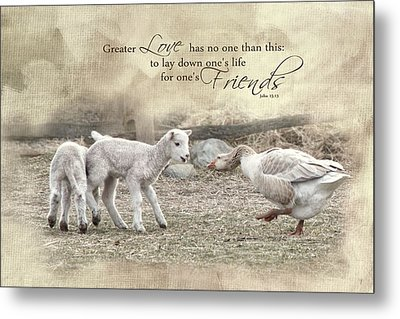 Metal Print featuring the photograph No Greater Love by Robin-Lee Vieira