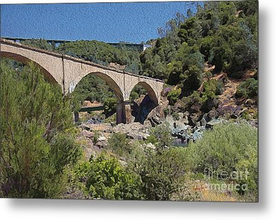 No Hands Bridge Metal Print by Anthony Forster