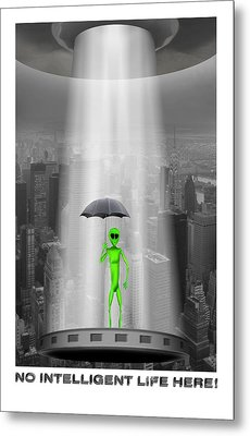 No Intelligent Life Here 2 Metal Print by Mike McGlothlen