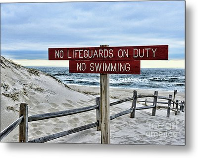 Metal Print featuring the photograph No Lifeguards On Duty by Paul Ward