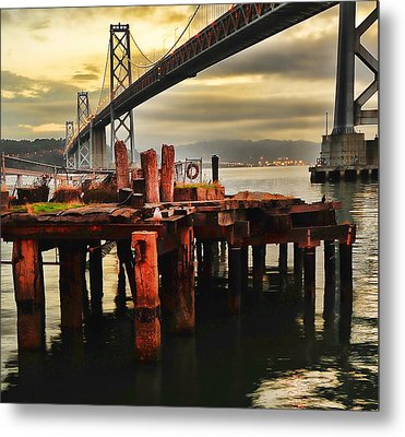 Metal Print featuring the photograph No Name Dock by Steve Siri