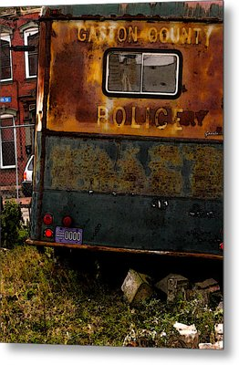 No Need For The Black Maria Metal Print by Jay Ressler