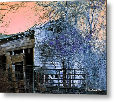 Metal Print featuring the photograph No Ordinary Barn by Betty Northcutt