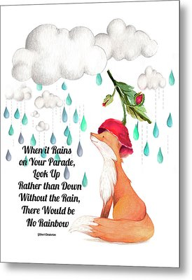 Metal Print featuring the digital art No Rain On My Parade by Colleen Taylor