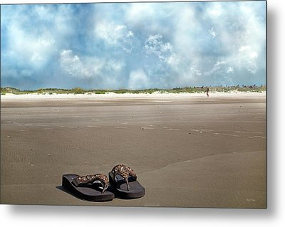 No Shoes Required Metal Print by Betsy Knapp