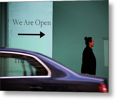 No We Are Closed  Metal Print by Empty Wall