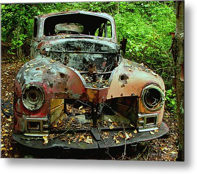 No Where To Go Metal Print by Laura Wergin Comeau