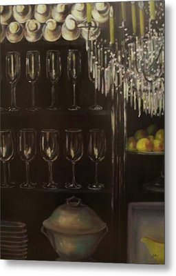 No Whine Dining Metal Print by Dana Redfern