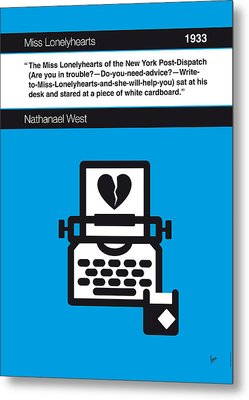 No011-my-miss Lonelyhearts-book-icon-poster Metal Print by Chungkong Art