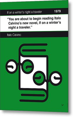 No014-my-if On A Winter's Night A Traveler-book-icon-poster Metal Print by Chungkong Art