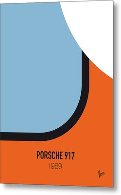 No016 My Le Mans Minimal Movie Car Poster Metal Print by Chungkong Art