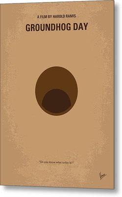 No031 My Groundhog Minimal Movie Poster Metal Print