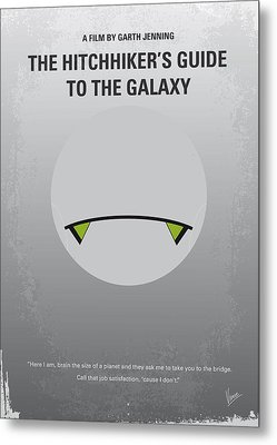 No035 My Hitchhiker Guide Minimal Movie Poster Metal Print by Chungkong Art