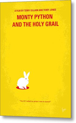No036 My Monty Python And The Holy Grail Minimal Movie Poster Metal Print by Chungkong Art