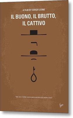 No042 My Il Buono Il Brutto Il Cattivo Minimal Movie Poster Metal Print by Chungkong Art