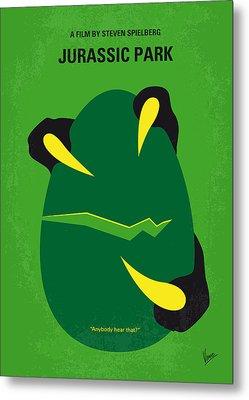 No047 My Jurassic Park Minimal Movie Poster Metal Print by Chungkong Art
