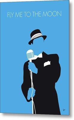 No059 My Sinatra Minimal Music Poster Metal Print
