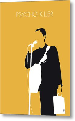 No064 My Talking Heads Minimal Music Poster Metal Print by Chungkong Art