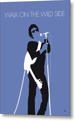 No068 My Lou Reed Minimal Music Poster Metal Print by Chungkong Art