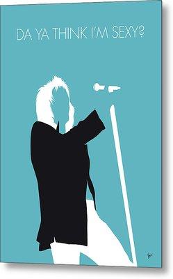 No075 My Rod Stewart Minimal Music Poster Metal Print