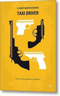 No087 My Taxi Driver Minimal Movie Poster Metal Print by Chungkong Art