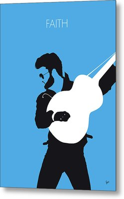 No089 My George Michael Minimal Music Poster Metal Print