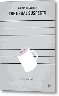 No095 My The Usual Suspects Minimal Movie Poster Metal Print by Chungkong Art