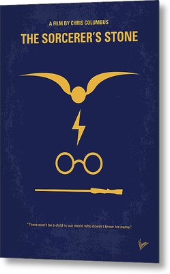 No101-1 My Hp - Sorcerers Stone Minimal Movie Poster Metal Print by Chungkong Art
