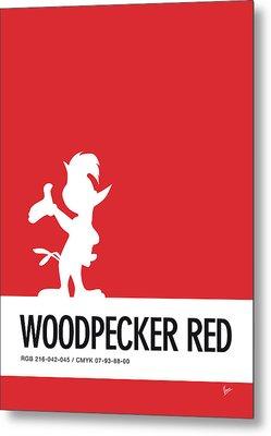 No12 My Minimal Color Code Poster Woody Woodpecker Metal Print by Chungkong Art