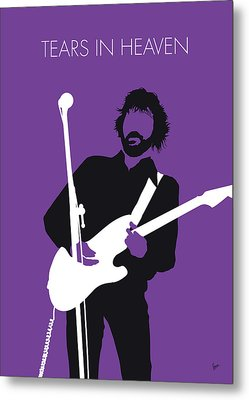 No141 My Eric Clapton Minimal Music Poster Metal Print
