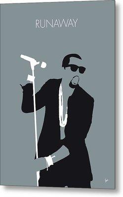 No157 My Kanye West Minimal Music Poster Metal Print