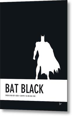 No20 My Minimal Color Code Poster Batman Metal Print by Chungkong Art