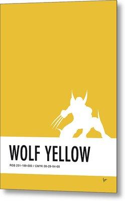 No21 My Minimal Color Code Poster Wolverine Metal Print by Chungkong Art