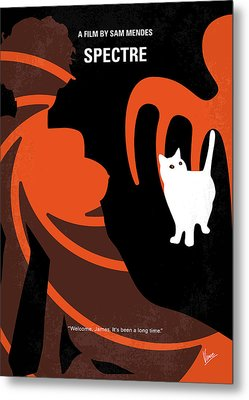 No277-007-2 My Spectre Minimal Movie Poster Metal Print by Chungkong Art