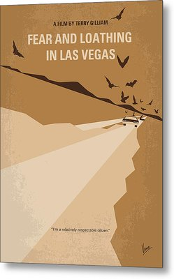 No293 My Fear And Loathing Las Vegas Minimal Movie Poster Metal Print by Chungkong Art
