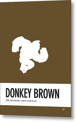 No37 My Minimal Color Code Poster Donkey Kong Metal Print
