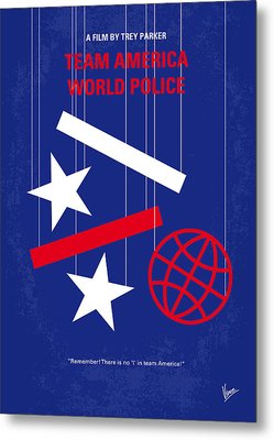 No475 My Team America Minimal Movie Poster Metal Print