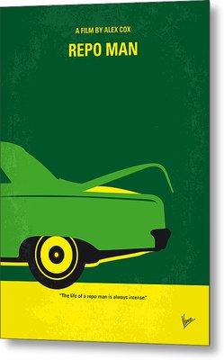 No478 My Repo Man Minimal Movie Poster Metal Print by Chungkong Art