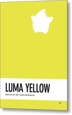 No40 My Minimal Color Code Poster Luma Metal Print by Chungkong Art