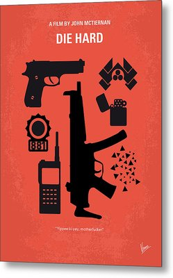 No453 My Die Hard Minimal Movie Poster Metal Print