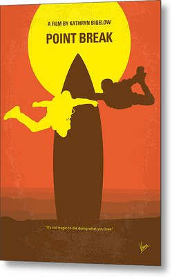 No455 My Point Break Minimal Movie Poster Metal Print by Chungkong Art