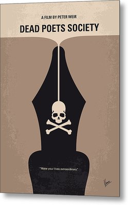 No486 My Dead Poets Society Minimal Movie Poster Metal Print